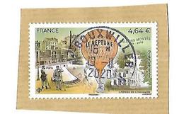 FRANCE TIMBRE POSTE AERIENNE BALLON MONTE 2020 OBLITERE PROPRE SUR FRAGMENT - 1960-.... Used