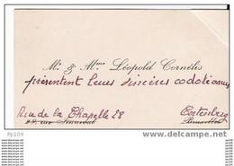 Carte De  Visite Ancienne/oude Visitekaartje :  Cornélis à Bruxelles Biffé Rue De La Chapelle, 28 Te Cortenberg - Cartoncini Da Visita