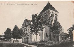 ST-MARTIN-de-COUX. - L'Eglise . Carte RARE - Other Municipalities