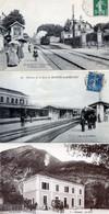 LOT DE 55 CPA  SUR LES GARES ET TRAINS (TOUTES SCANNEES) - 5 - 99 Postales