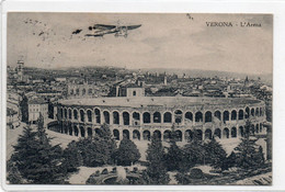 VERONA - L' ARENA - Aereo Dipinto - VIAGGIATA - Verona
