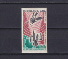 CONGO 1966, Mi# 93, Imperf, Space, Satellite, MNH - Collections