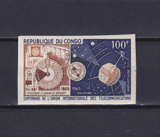 CONGO 1965, Mi# 67, Imperf, Space, Satellite, MNH - Collections