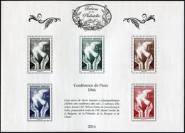 FRANCE 2016 - SALON DU TIMBRE -TRÉSORS DE LA PHILATÉLIE MNH ** LA CONFÉRENCE DE PARIS 1946  (Luxe) - Ongebruikt
