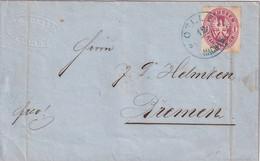 PREUSSEN 1867 LETTRE DE OELDE - Pruisen