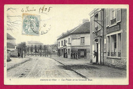 CPA Auvers Sur Oise - La Poste Et La Grande Rue - Auvers Sur Oise