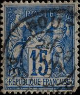 -Sage N°101. Type II  Ob  ( CAD ) .NOUZON  ( 07)  1899. - 1876-1898 Sage (Type II)