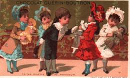 JOLIE CHROMO FOND DORE  / GUERIN BOUTRON / LITHO VALLET MINOT / FAITES RISETTE AU MONSIEUR - Guerin Boutron