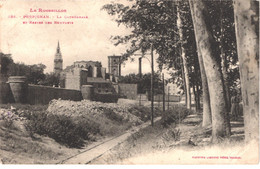 FR66 PERPIGNAN - Labouche 398 - La Cathédrale Et Restes Des Remparts - Démolition Des Remparts - Voie De Tramway - Belle - Perpignan