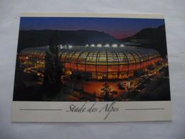 GRENOBLE (38) : Le Stade  Des ALPES Avant 2000, Vue Générale - Soccer