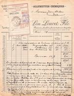 18401  24-0047   1918 ALLUMETTES CHIMIQUES LEON LOUVET FILS - M. MILOU A TRIE - 1900 – 1949