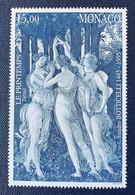 Timbre 1995 Monaco Neuf N°2010 Y&T Anniversaire Peintre Botticelli - Ungebraucht