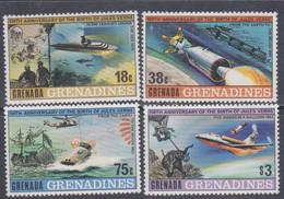 Grenadines N° 289 / 92 XX 150è Anniversaire De La Naissance De Jules Verne, Les 4 Valeurs  Sans Charnière, TB - America (Other)