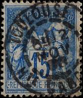 -Sage N°101. Type II  Ob  ( CAD ) TOULOUSE 1898. - 1876-1898 Sage (Type II)