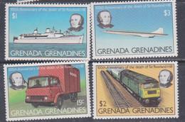 Grenadines N° 293 / 96 XX 150è Anniversaire De La Mort De Rowland Hill, Les 4 Valeurs  Sans Charnière, TB - America (Other)