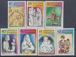 Grenadines N° 297 / 303 XX Noël : Sculptures Les 7 Valeurs  Sans Charnière, TB - America (Other)
