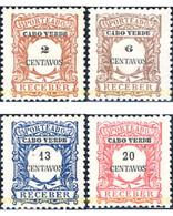 Ref. 646867 * HINGED * - CAPE VERDE. 1921. 1904 STAMPS. VALUE IN CENTS . SELLOS DE 1904. VALOR EN CENTAVOS - Cape Verde