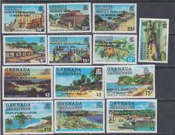 Grenadines N° 325 / 37 XX  : 1er Anniversaire De La Révolution Du Peuple, Les 13 Valeurs Surchargées Sans Charnière, TB - America (Other)