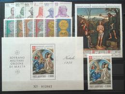 SMOM 1978 Annata Completa/Complete Year MNH/** VF - Malte (Ordre De)