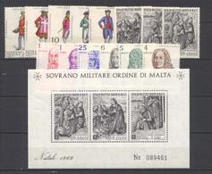SMOM 1969 Annata Completa/Complete Year MNH/** VF - Malte (Ordre De)