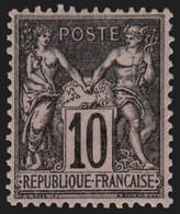 France N°103, Sage 10c Noir Sur Lilas, Type I, Neuf * - TB - COTE 45 € - 1898-1900 Sage (Tipo III)