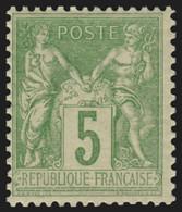 France N°106, Sage 5c Vert-jaune Type II, Neuf ** Sans Charnière COTE 75€ - TB - 1898-1900 Sage (Tipo III)