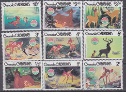 Grenadines N° 369 / 77  XX  : Noël : Illustrations Avec Personnages Walt Disney, Les 9 Valeurs  Sans Charnière, TB - America (Other)