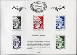 FRANCE 2016 - SALON DU TIMBRE -TRÉSORS DE LA PHILATÉLIE MNH ** FLEURS ET PARFUMS (Luxe) - Ongebruikt