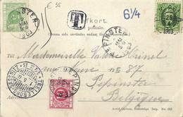 CP Stockholm. Skansens Dansbana. Voir Dos Oblitèration, Taxe. Trelleborg (Suède) Vers Pepinster (Belgique) - Used Stamps