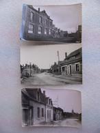 Lot 3 Cpsm QUEANT Rue De La Gare , De La Mairie  Et Grande Rue Pas De Calais - Altri Comuni