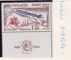 1422 Philatec Paris 1964  France- Sacrifié - Bord De Page  Neuf Impeccable - Nuovi