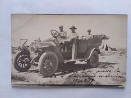 1917  BIR ZEBLI    ANIMATA   LIBIA MILITARI IN DIVISA  E AUTO  FOTO ORIGINALE - Libye