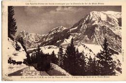 74 - Arrivée Du TMB Au Col De VOZA En Hiver - L'aiguille Du Midi Et Le Mont-Blanc - Saint-Gervais-les-Bains