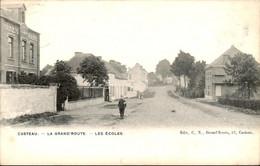 België - Casteau - La Grand Route Les Ecoles - 1905 - Unclassified