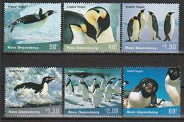 ANTARCTIQUE - ROSS 2001 Manchots Penguins Pinguins - Yv. 78/83 ** - Unused Stamps