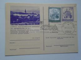 D178973  Österreich  Seitenstetten  NÖ.  Ganzsache   500 Jahre  Sonderstempel - Entiers Postaux