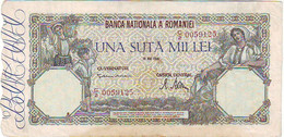 ROUMANIE - TRES BEAU BILLET DE 100 000 LEI AYANT CIRCULE DU 28 MAI 1945 - Agriculture - Vie Paysane - Romania