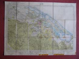Carte Toilée 1938 Hué Vietnam  Par Le Colonel Edel Du Service Géographique De L'  INDOCHINE   &&&& Originale &&&& - Topographical Maps