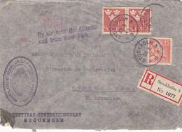 SVERIGE. ENVELOPPE. CIRCULEE STOCKHOLM A BUENOS AIRES, ARGENTINE. ANNEE 1941. RECOMMANDE, PAR AVION.- LILHU - Briefe U. Dokumente