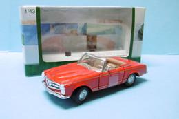Cararama - MERCEDES BENZ 280 SL Roadster Cabriolet Rouge BO 1/43 - Cararama (Oliex)
