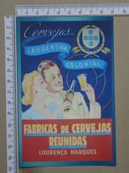 MOZAMBIQUE - FABRICA DE CERVEJAS REUNIDAS -  LOURENÇO MARQUES -   2 SCANS  - (Nº42514) - Mozambique