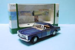 Cararama - MERCEDES BENZ 280 SL Roadster Cabriolet Bleu BO 1/43 - Cararama (Oliex)