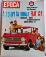 FIAT 124 - EPOCA N.   810  DEL 3 APRILE 1966 (CART 54) - Motori