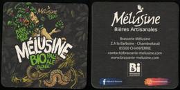 France Sous Bock Beermat Coaster Bière Beer Mélusine Bio Pale Ale Blonde SU - Portavasos