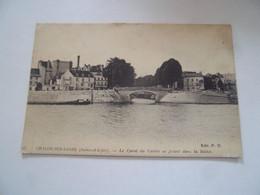 1 Aer - CPA N°25 - CHALON SUR SAONE - Le Canal Du Centre Se Jetant Dans La Saône - [71]   Saône Et Loire - - Chalon Sur Saone