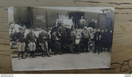 Carte Photo 22e Section Coa, Wagons Lits SAINT DENIS  ................ 219 - Guerre 1914-18