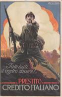 CPA ITALIE ITALIA Patriotisme Crédit Italien Soldat Militaria Illustrateur A. MAUZAN   2 Scans - Zonder Classificatie