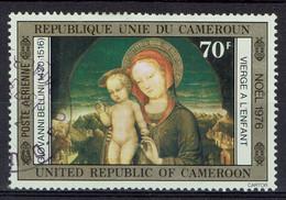 Cameroun, 70f, Noël, La Vierge à L'Enfant Par Bellini, 1976, Obl, TB Poste Aérienne - Kamerun (1960-...)