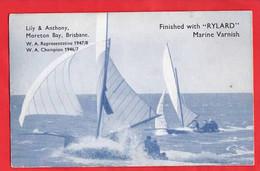 AUSTRALIA  QUEENSLAND  BRISBANE MORETON BAY  YACHT YACHTING  RYLARD VARNISH ADVERT  PUBLICITE - Brisbane