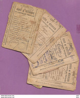 Lot De 4 Cartes De Vêtement Et Textile 3x1942 Et 1 1945 - Documents Historiques